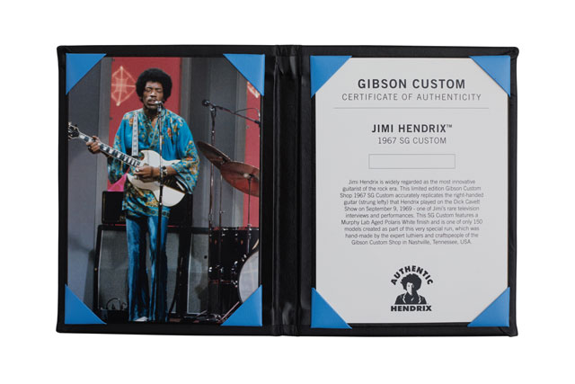 Jimi Hendrix Certificate of Authenticity