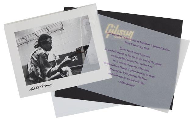 Eddie Kramer's personal photo of Jimi Hendrix with his Flying V