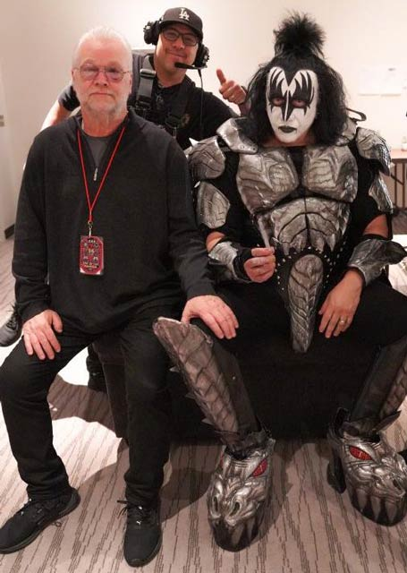 Michael Francis and Gene Simmons