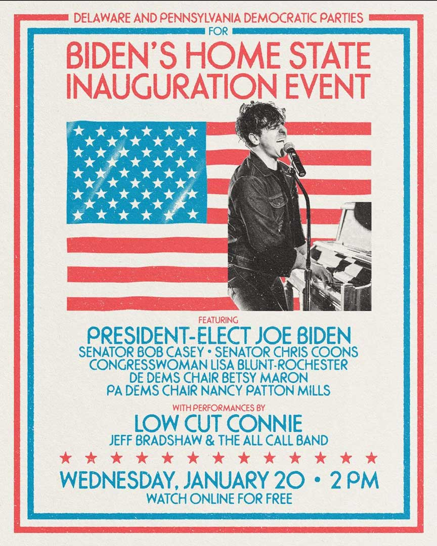 Joe Biden / Low Cut Connie to perform at inauguration celebration tonight   MetalTalk