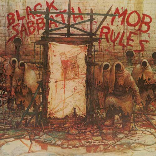Photo of the cover of the album Mob Rules, by Black Sabbath