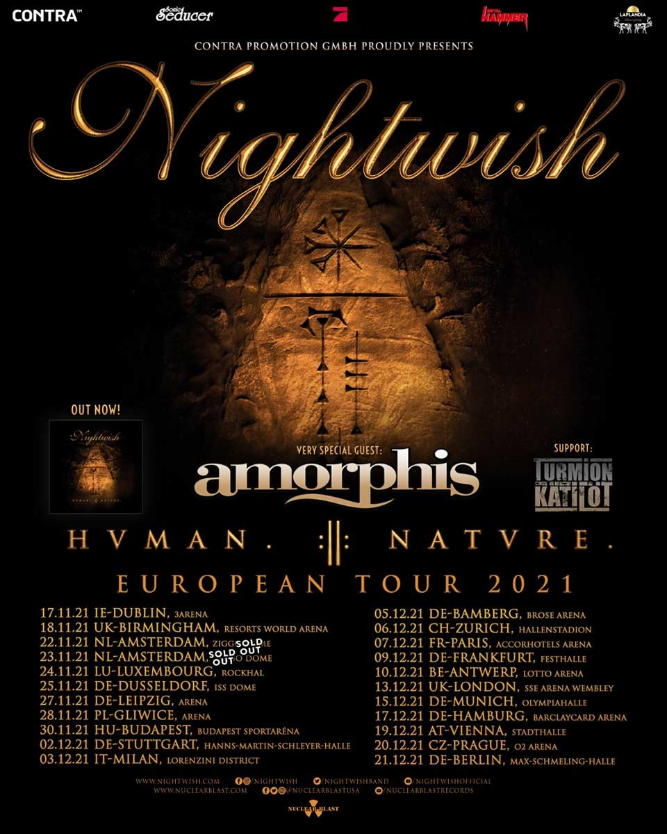 Poster for the Nightwish European Tour