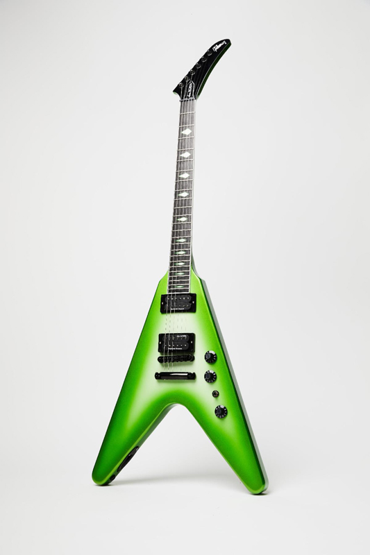 Photo of the Prototype: Gibson Dave Mustaine Flying V 30th Anniversary 'Rust in Peace'