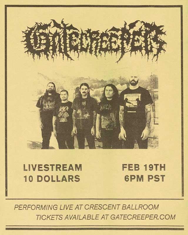 Gatecreeper live stream poster