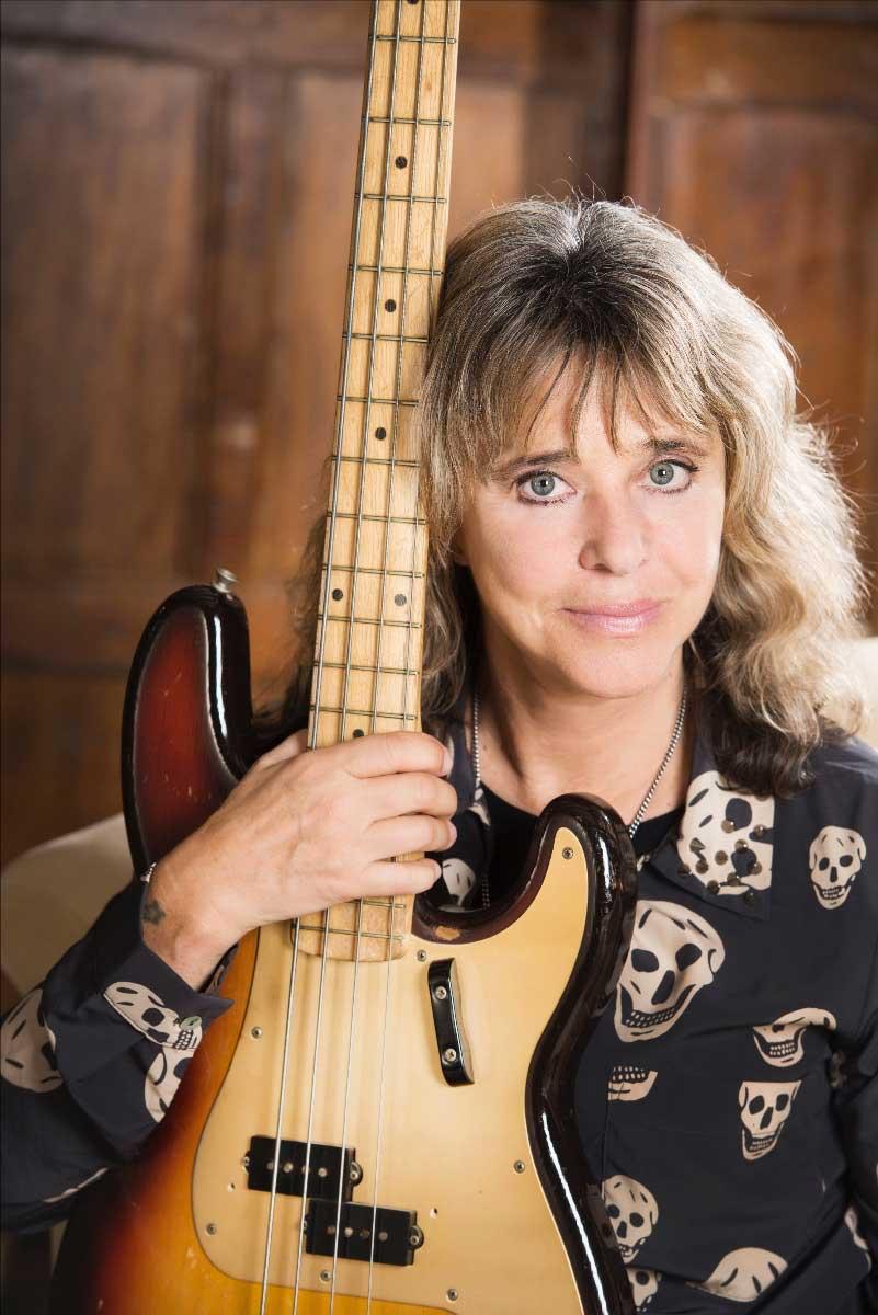 Photo of iconic musician Suzi Quatro
