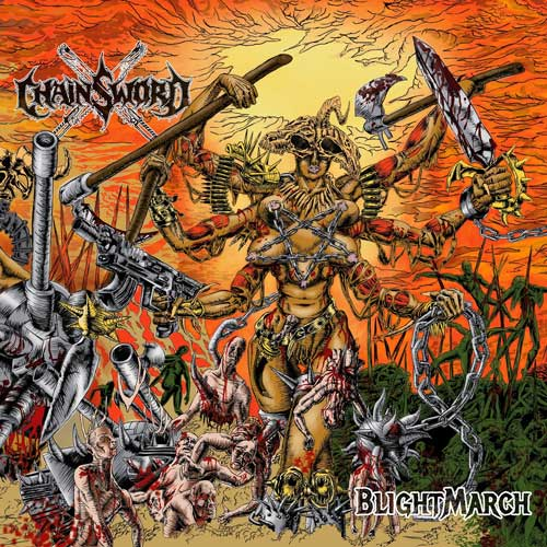 Cover fo Blightmarch by Chainsword