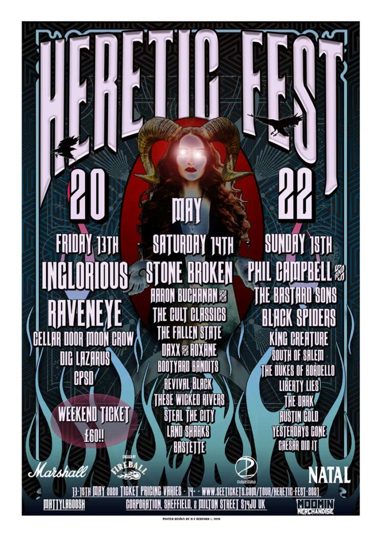 Lineup for Heretic Fest 2022
