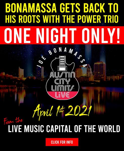 Poster for Joe Bonamassa will perform at Austin City Limits Live