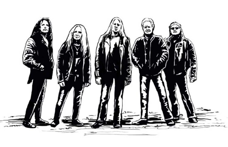 Drawing of the NWOBHM band Saxon