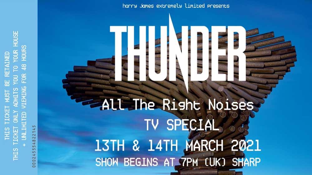 Thunder live gig ticket stub
