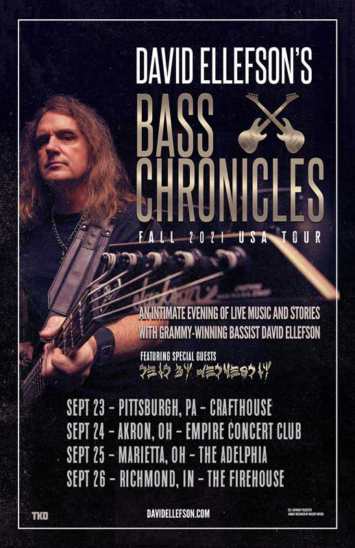 David Ellefson Bass Chronicles tour poster