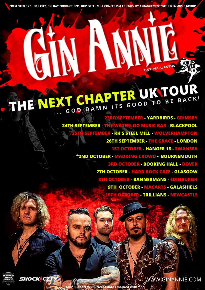 Gin Annie UK Tour poster