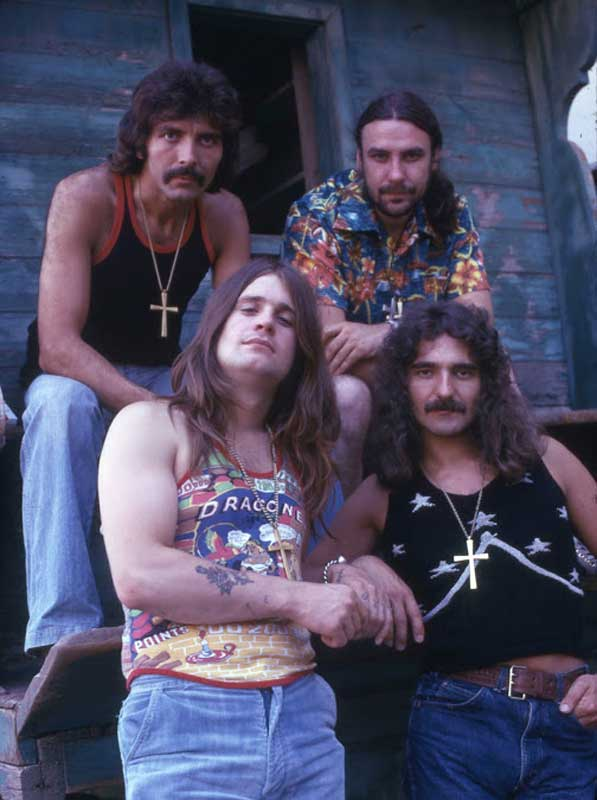 Photo of Black Sabbath in 1975