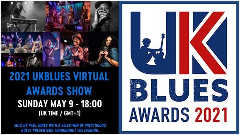 UKBlues Awards 2021 Event poster