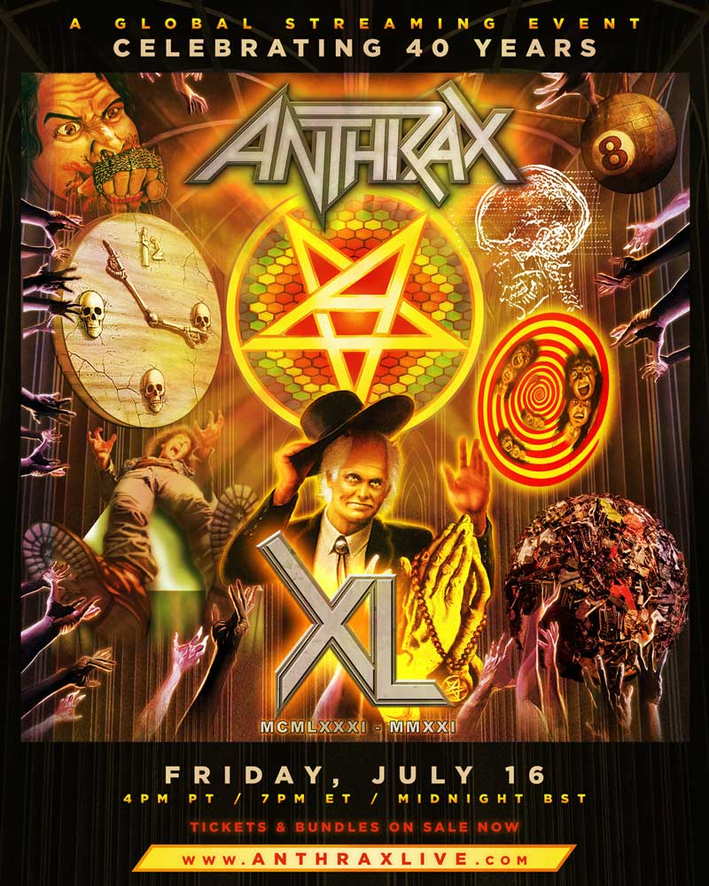 Anthrax 40th Anniversary poster