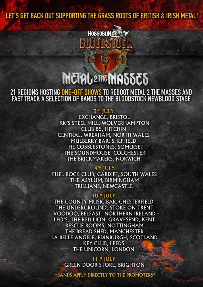 Bloodstock 2021 Metal 2 The Masses poster