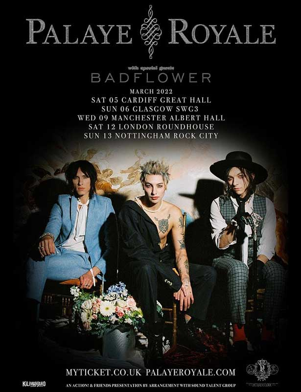 Palaye Royale March 2022 UK tour poster