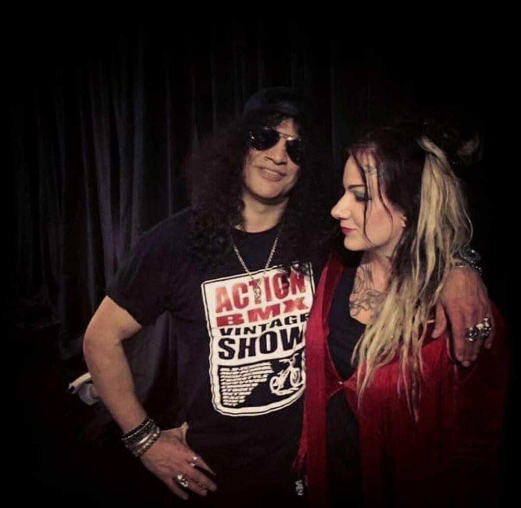 Photo of Slash and Emilia Lindberg