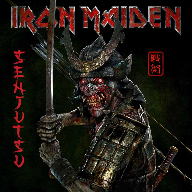 Cover of Senjutsu from Iron Maiden