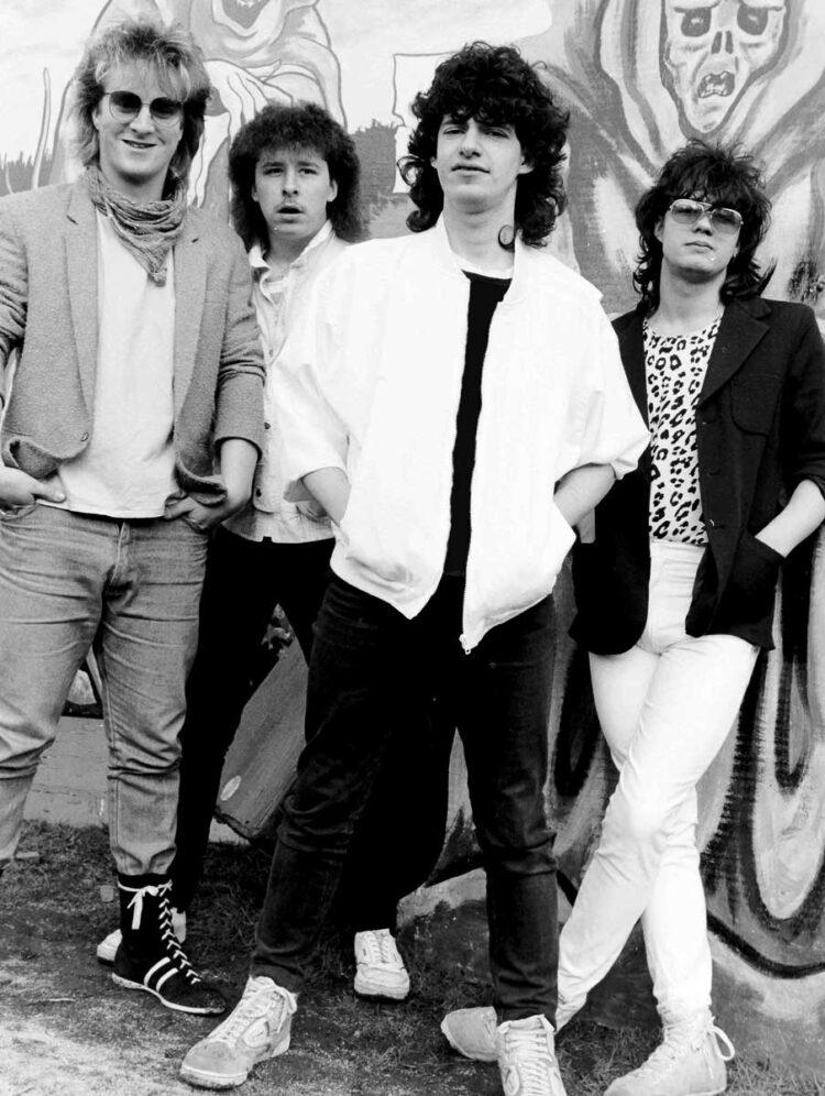 Photo of '80s UK Heavy Metal band Excalibur