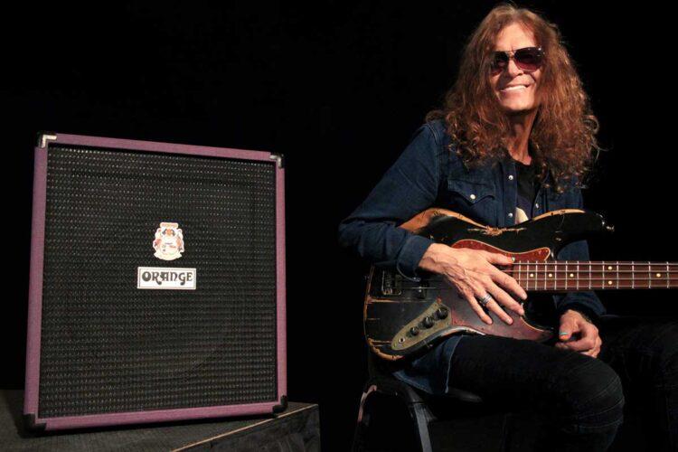 Glenn Hughes and his Glenn Hughes Signature Crush Bass 50