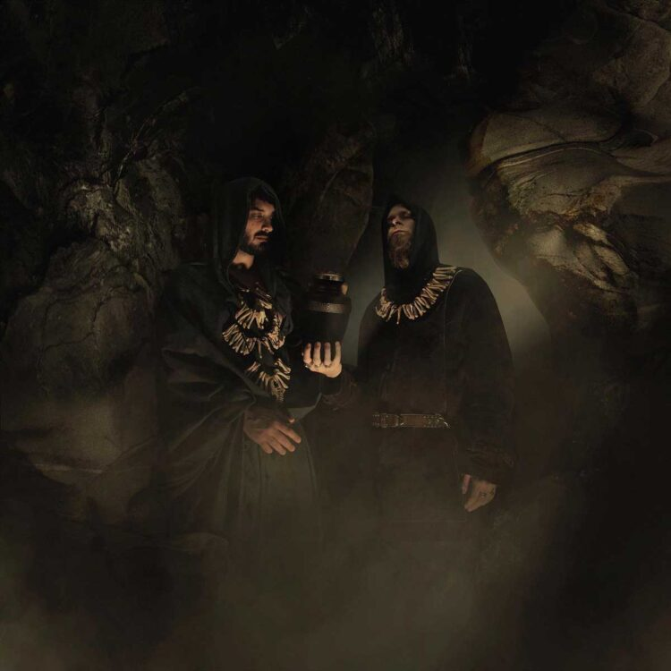 Photo of Swiss Blackened Death Metal duo Lykhaeon
