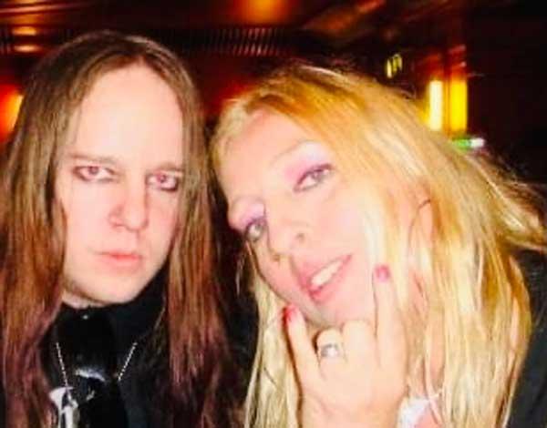 Photo of Sara Harding and Joey Jordison,