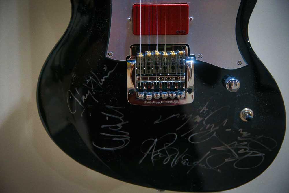Signed Glen Tipton guitar. RAM Gallery Bloodstock 2021. BOA21
