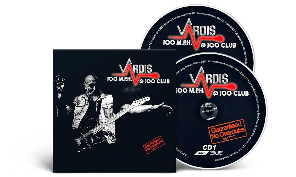 Cover of Vardis, 100 M.P.H.@100 Club