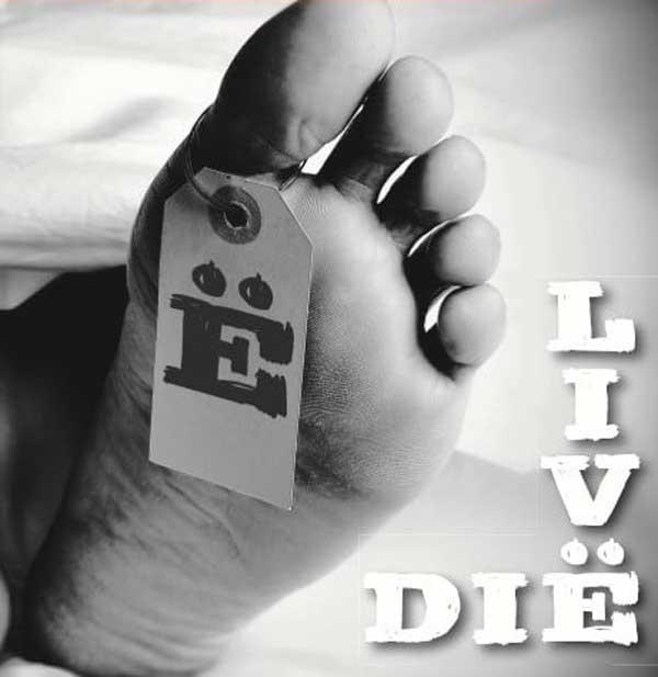 Dië Spanglë - Cover of Livë/Dië