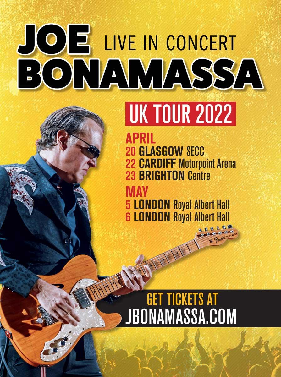 Joe Bonamassa 2022 UK Tour Poster
