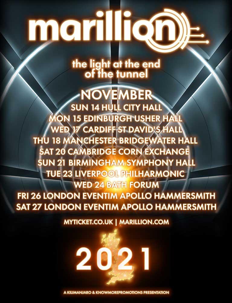 Marillion November 2021 tour poster