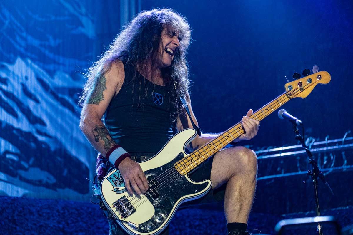 Steve Harris, from Iron Maiden