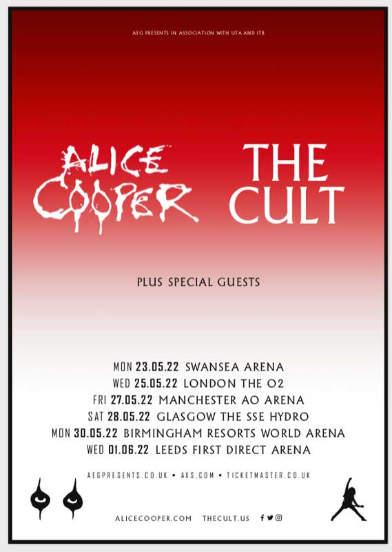 Alice Cooper The Cult tour poster