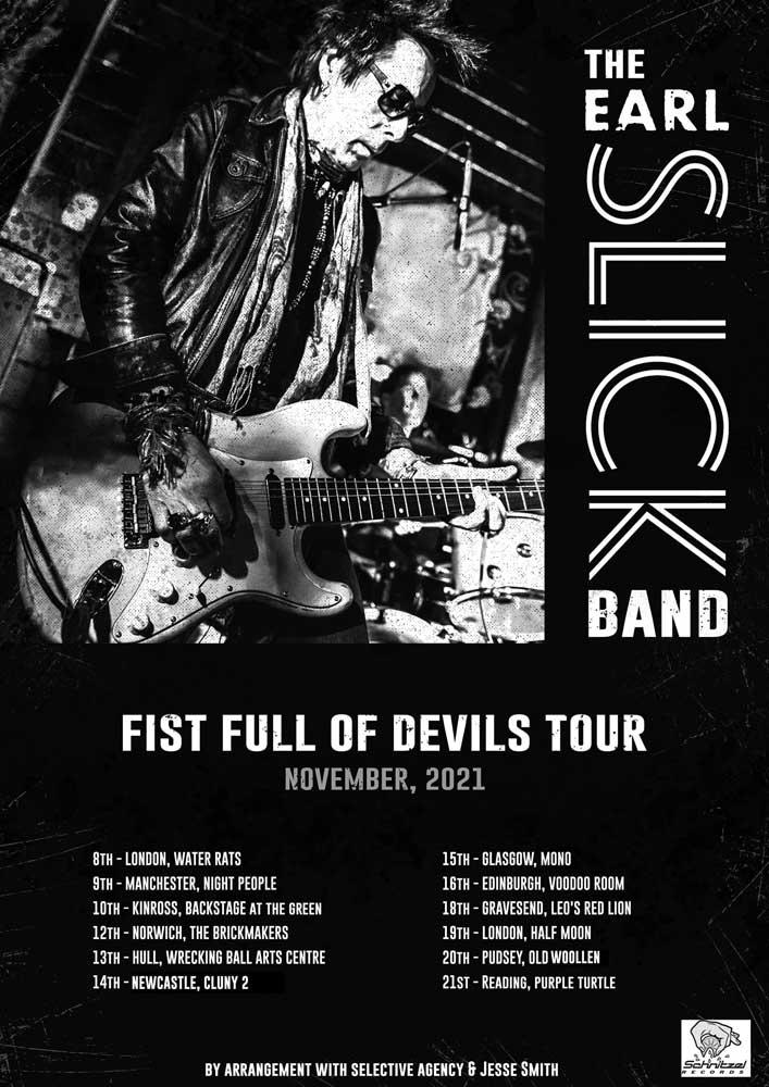 Ear Slick 2021 UK Tour Poster