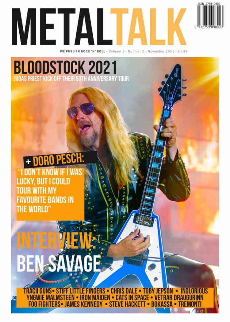 Cover of MetalTalk Magazine Issue 2 - November 2021