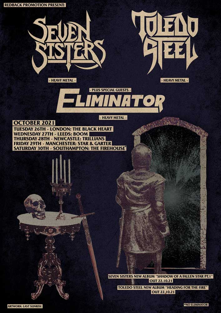 Seven Sisters and Toledo Steel album launch show poster